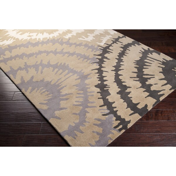 Hand-Tufted Debra New Zealand Wool Geometric Area Rug (9' x 12')