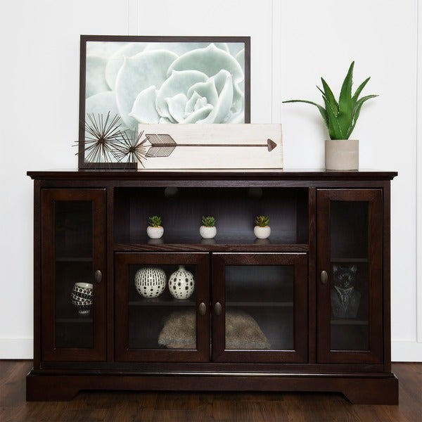 Wood Tv Stands Product ~ Quot espresso wood highboy tv stand free shipping today