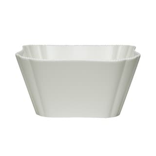 Pinpoint White 64-ounce Salad Bowls (Set of 4)