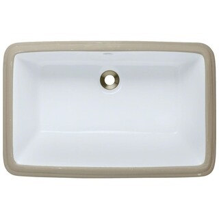 MR Direct White Undermount Porcelain Bathroom Sink