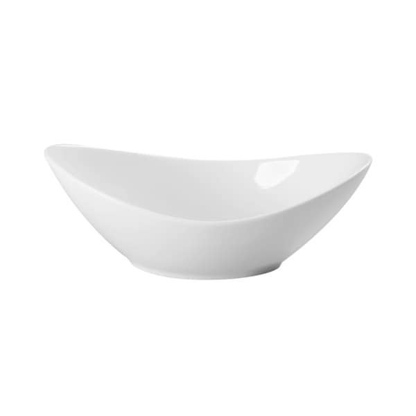 Red Vanilla Butterfly 10-ounce Oval Bowls (Set of 6)