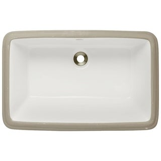 MR Direct u1812 Porcelain Undermount Bathroom Sink
