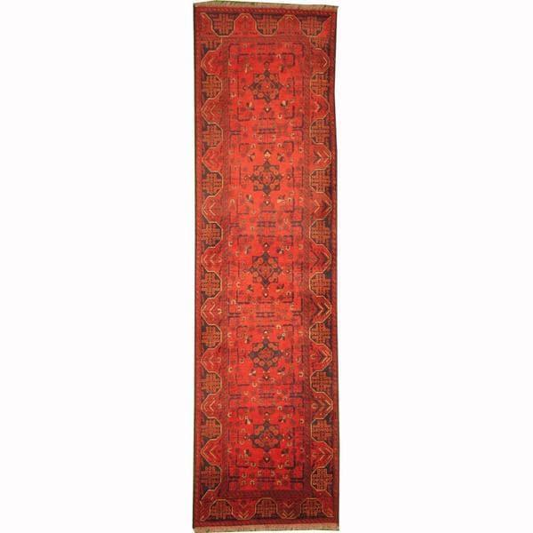 Handmade Herat Oriental Afghan Tribal Khal Mohammadi Wool Runner - 2'8 x 9'9 (Afghanistan)