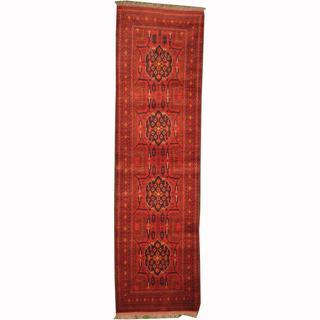 Herat Oriental Afghan Hand-knotted Tribal Khal Mohammadi Wool Runner (2'9 x 9'6)