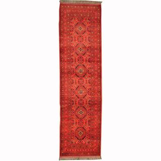 Herat Oriental Afghan Hand-knotted Tribal Khal Mohammadi Wool Runner (2'8 x 9'9)