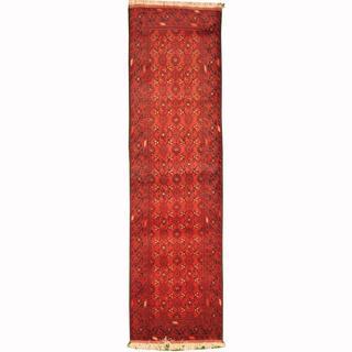 Herat Oriental Afghan Hand-knotted Tribal Khal Mohammadi Wool Runner (2'7 x 9'5)