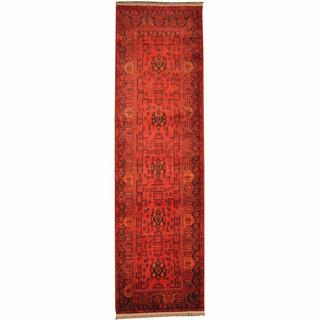 Herat Oriental Afghan Hand-knotted Tribal Khal Mohammadi Wool Runner (2'9 x 9'8)