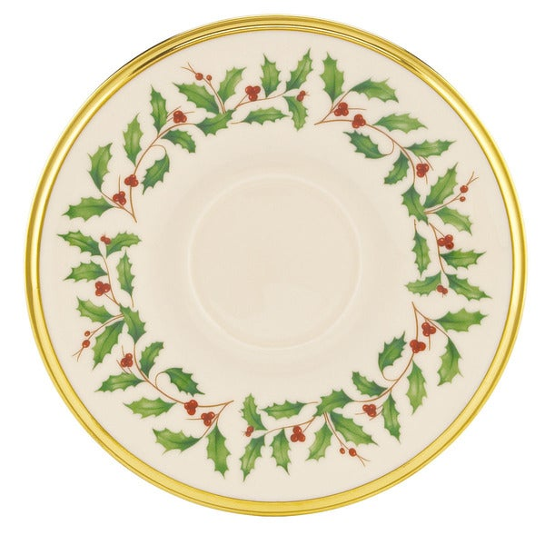 Lenox Holiday Tea Saucer  sc 1 st  Overstock.com & Shop Lenox Holiday Tea Saucer - Free Shipping On Orders Over $45 ...