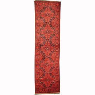Herat Oriental Afghan Hand-knotted Tribal Khal Mohammadi Wool Runner (2'8 x 9'6)