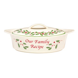Lenox Holiday Family Recipe Serving Dish