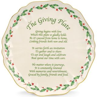 Lenox Holiday Carved Giving Plate