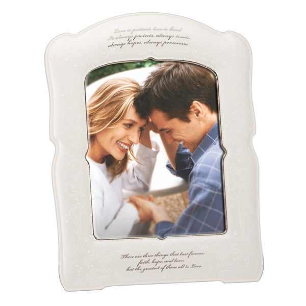 Shop Lenox Opal Inn Love Is Patient Frame 8x10 Free