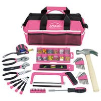 201 Piece Pink Soft-Sided Household Tool Kit