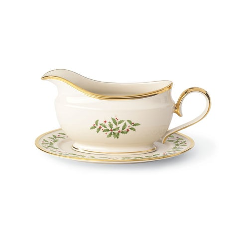Lenox Holiday Sauce Boat and Stand