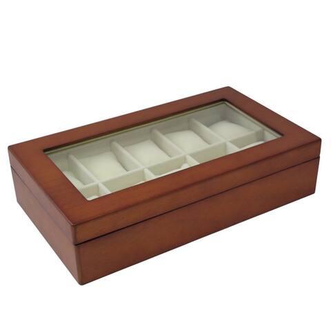 Bey Berk Solid Wood 10 Slot Watch Box