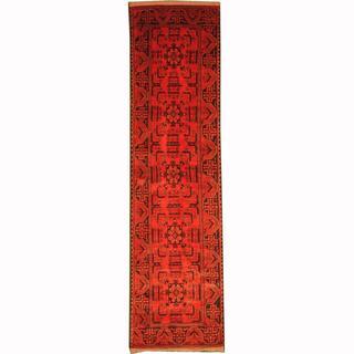 Herat Oriental Afghan Hand-knotted Tribal Khal Mohammadi Wool Runner (2'7 x 9'4)