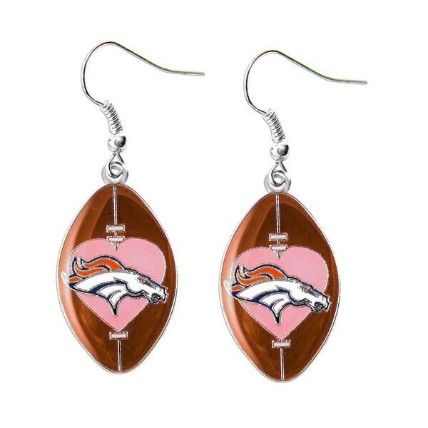 NFL Team Logo Heart Dangle Charm Earring