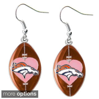 NFL Team Logo Heart Dangle Charm Earring