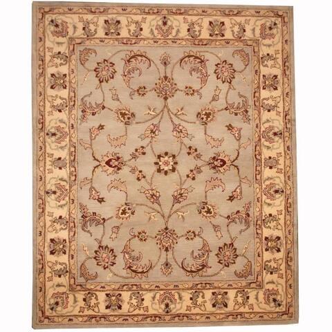 Handmade Tabriz Wool Rug (India) - 8' x 10'