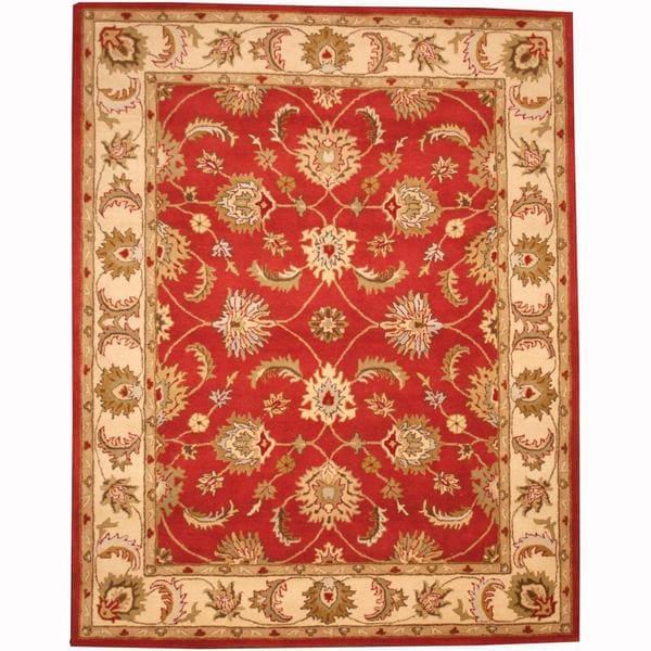 Indo Persian Tabriz Wool Area Rug: Shop Herat Oriental Persian Indo Hand-tufted Tabriz Wool