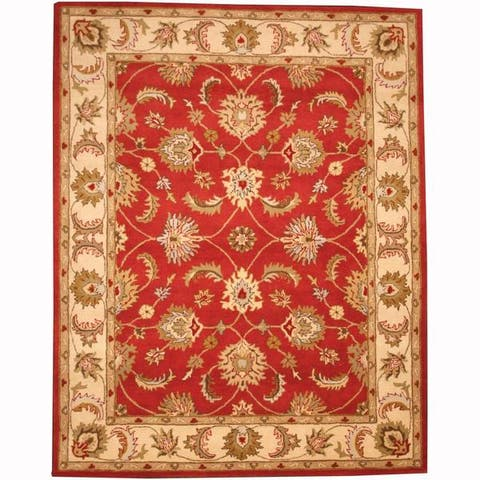 Handmade Tabriz Wool Rug (India) - 8' x 10'
