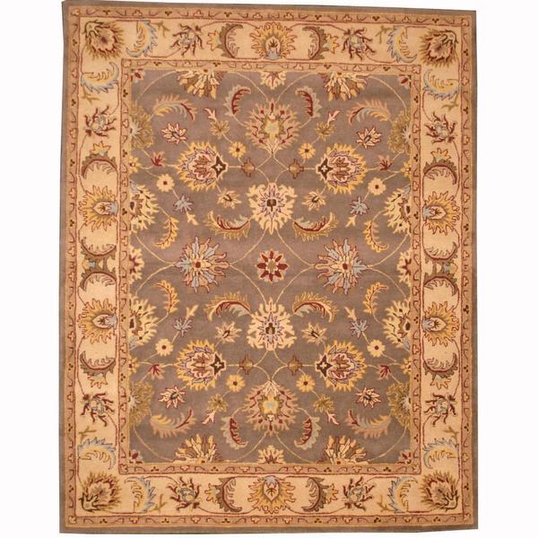 Indo Persian Tabriz Wool Area Rug: Herat Oriental Persian Indo Hand-tufted Tabriz Wool Rug (8