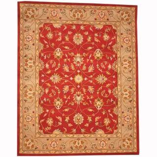 Herat Oriental Persian Indo Hand-tufted Tabriz Rust/ Beige (8' x 10')