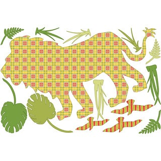 ZooWallogy - Ozzie the Lion Decal