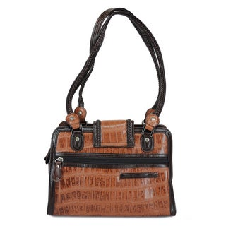 Ann Creek Women's 'Emperia' Brown Leather Satchel