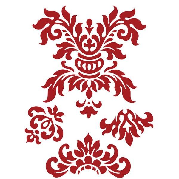 one tone damask wall art stickers free shipping on damask pattern wall art stickers