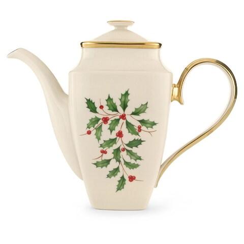 Lenox Holiday Square Coffeepot