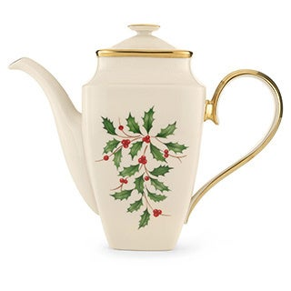 Lenox Holiday Square Coffeepot