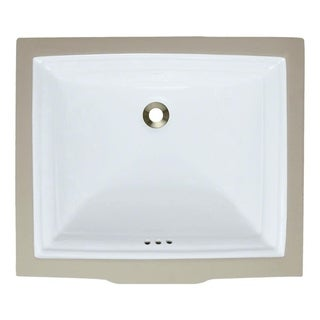 MR Direct u2450 Undermount Rectangular Porcelain Sink