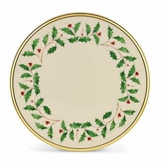Lenox Holiday Dinnerware Salad/ dessert plate (Set Of 6) https://ak1.ostkcdn.com/images/products/9547111/P16727995.jpg?impolicy=medium