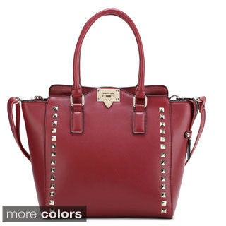 Ann Creek Women's 'Canbery' Studded Leather Tote