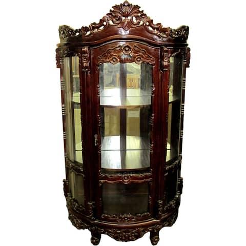 Handmade D-Art Rococo China Cabinet (Indonesia)