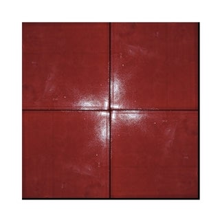 Asfi Redish Brown Handmade Moroccan 4 x 4 inch Cement and Granite Floor or Wall Tile (Case of 40)