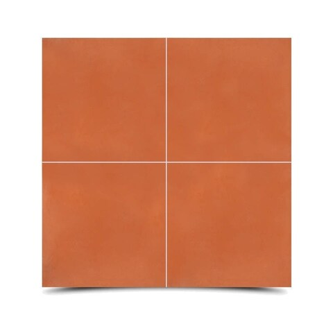Marrakech Terra Cotta Handmade Moroccan 8 x 8 inch Cement and Granite Floor or Wall Tile (Case of 12)