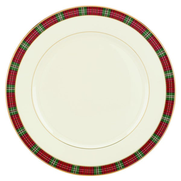 Lenox winter greetings plaid dinner plate free shipping on orders lenox winter greetings plaid dinner plate m4hsunfo