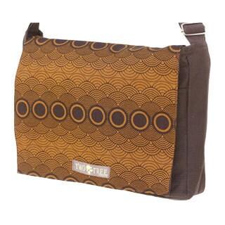 Handmade Medium Brown Clouds Messenger Bag