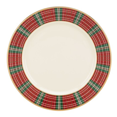 Lenox Winter Greetings Plaid Butter Plate