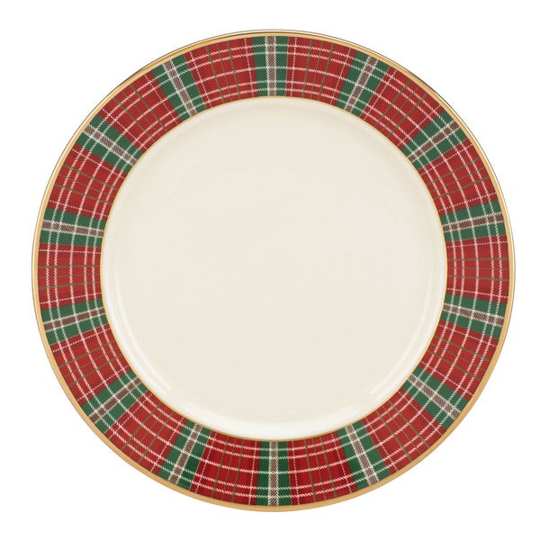 Shop Lenox Winter Greetings Plaid Butter Plate - Free Shipping On ...
