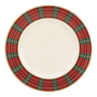 Lenox Winter Greetings Plaid Salad Plate