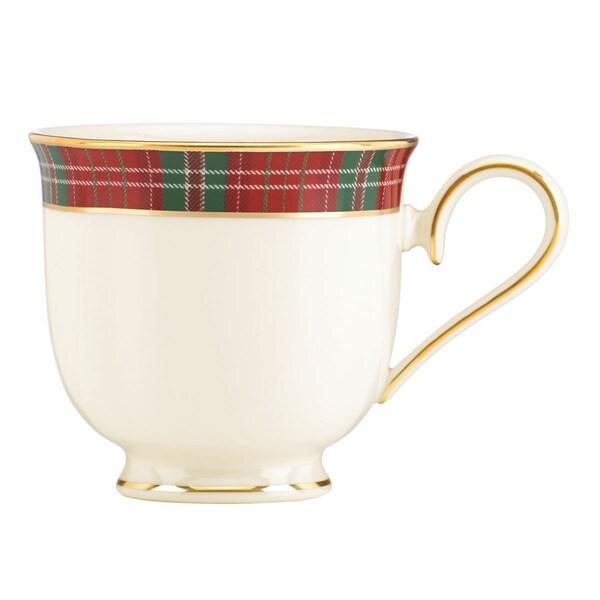 Lenox winter greetings plaid teacup free shipping today lenox winter greetings plaid teacup m4hsunfo