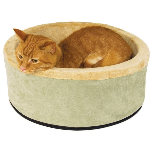 """K&H Pet Products Thermo-Kitty Cat Bed (Sage (Green) - 16""""..."""