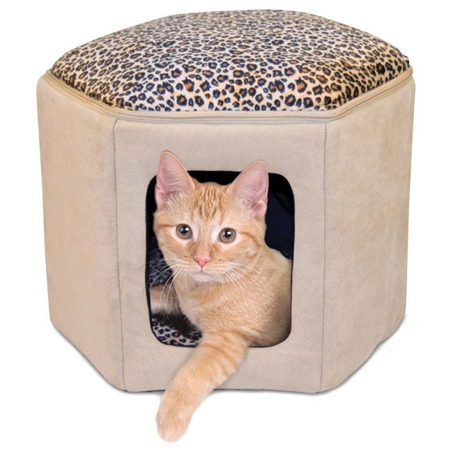 K&H Pet Products Thermo-Kitty Sleephouse (Tan/Leopard - 1...