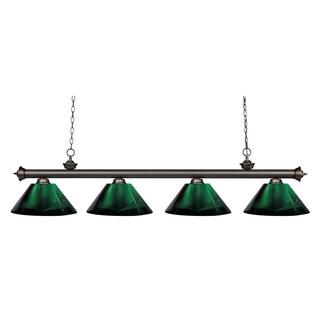 Avery Home Lighting Riviera Olde Bronze Green 4-light Billiard Fixture