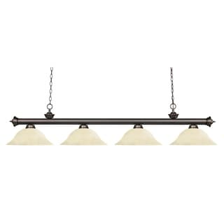 Z-Lite Riviera Olde Bronze Golden Mottle 4-light Billiard Fixture