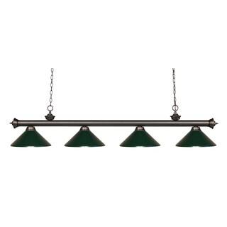 Avery Home Lighting Riviera Olde Bronze Dark Green 4-light Billiard Fixture