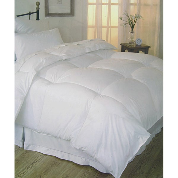 shop oversized 230 thread count all season down alternative king size comforter in white as is. Black Bedroom Furniture Sets. Home Design Ideas